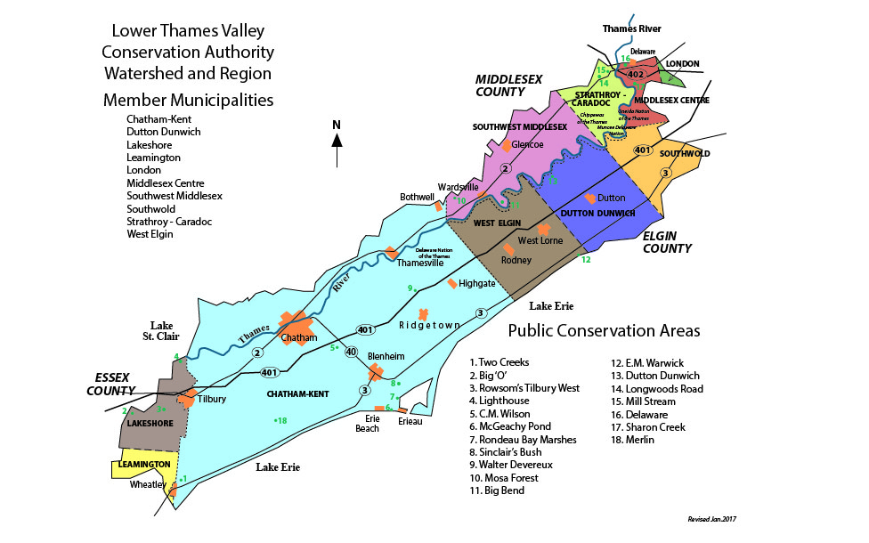 LTVCA Watershed Map
