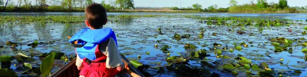 child canoeing