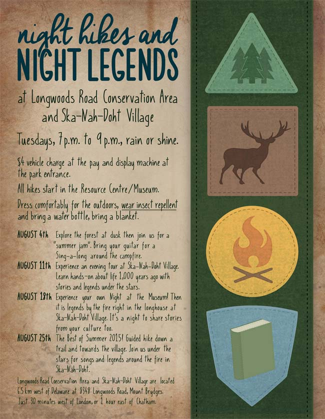 August Night Hikes and Night Legends