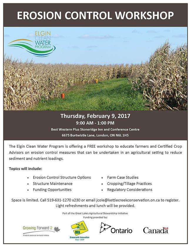 Erosion Control Workshop February 9th