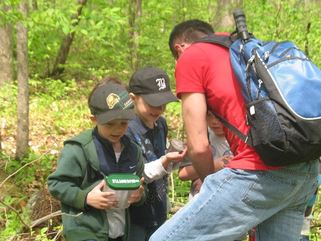 """Spring experiential learning opportunities""  Outdoor Ed Programs 'Step Into Nature' at Longwoods Road Conservation Area!"