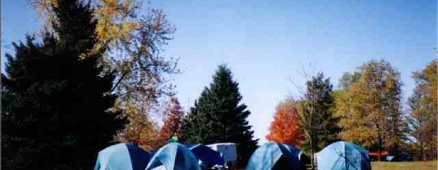 Image of People Camping in Tents