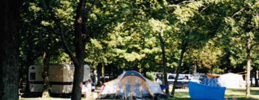 campground wit tents and trailers