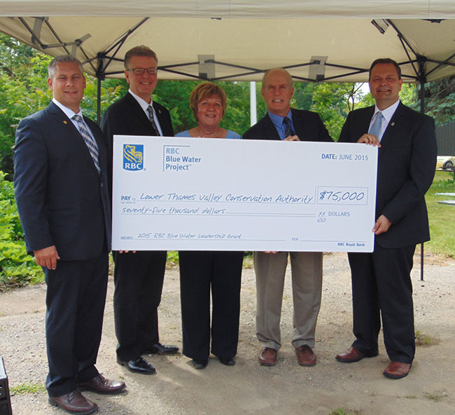 $75,000 Grant to LTVCA – RBC Celebrates Blue Water Day in Chatham