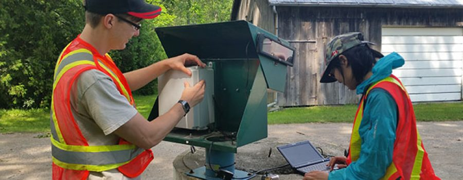 summer students collect ground water data