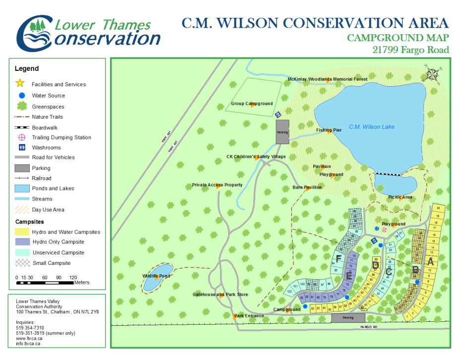 CM Wilson Campground Map Lower Thames Valley Conservation Authority - Wilson lake map