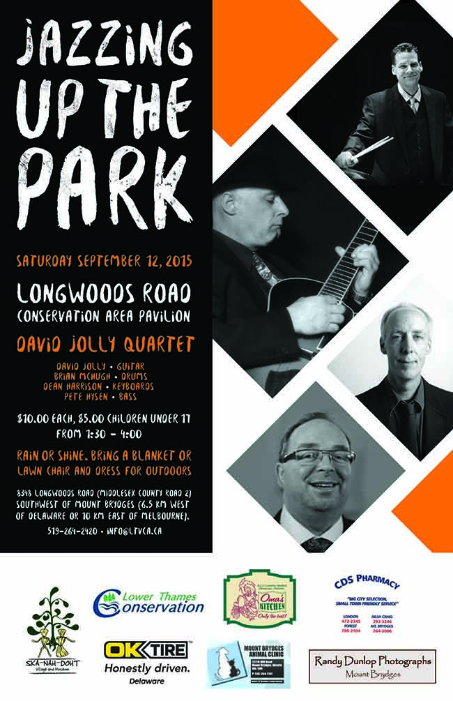 """Jazzing Up the Park!""  The David Jolly Quartet to Play at Longwoods!"