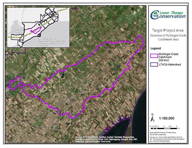 map of McGregor Creek Subwatershed