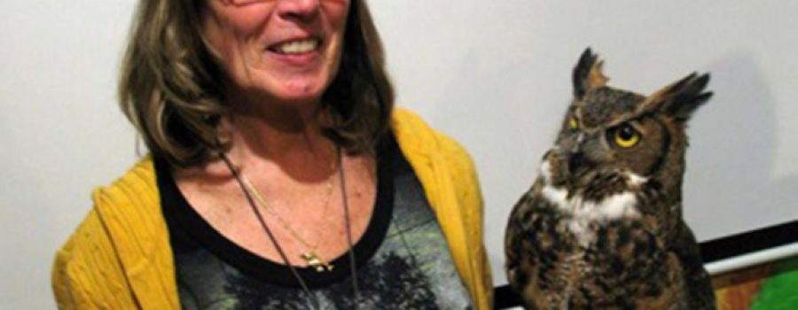 Lynn Eves and Great Horned Owl