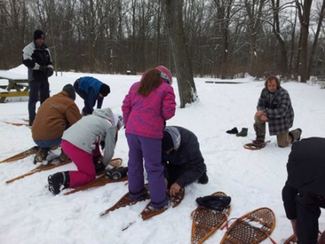 """Slap On the Snowshoes and Away You Go!""  Longwoods Offers Snowshoe Rental Sunday Afternoons"