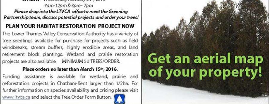 Greening Partnership Open House poster Feb 24 2016