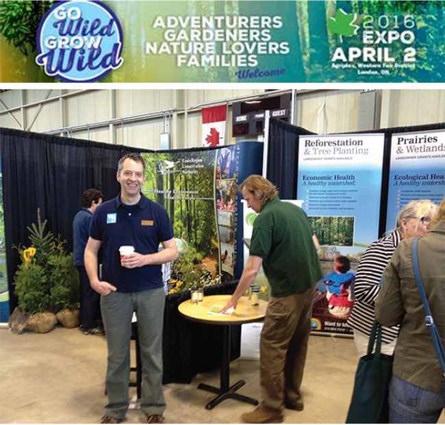 """Got questions about land stewardship or conservation areas?""  Visit LTVCA at the Go Wild Grow Wild Expo!"