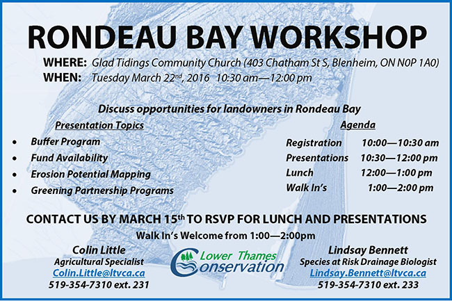 Attention Landowners in Rondeau Bay – Plan to Attend Stewardship Workshop!