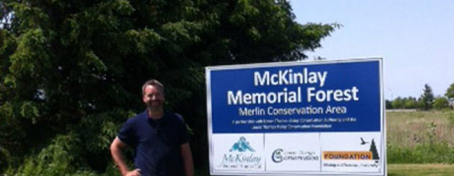 McKinlay Memorial Forest Sign at Merlin Conservatiion Area