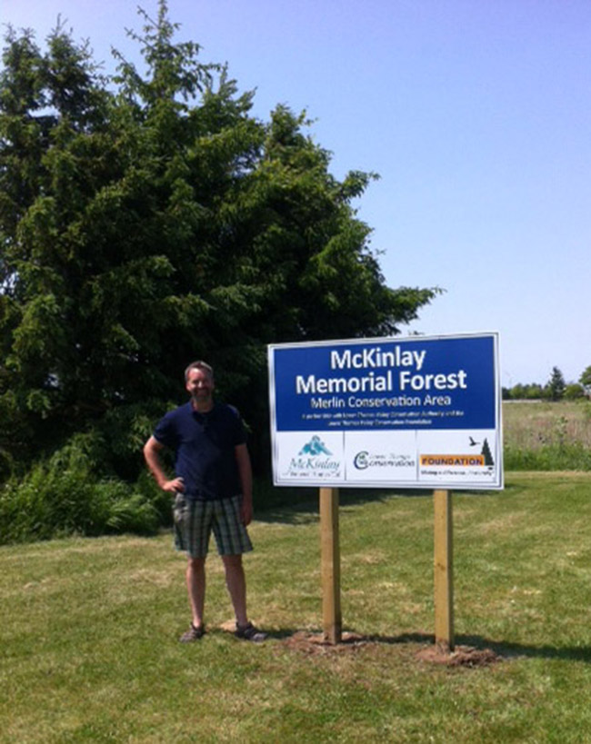 Annual Dedication Service to be Held in June – McKinlay Memorial Forest at Merlin Conservation Area