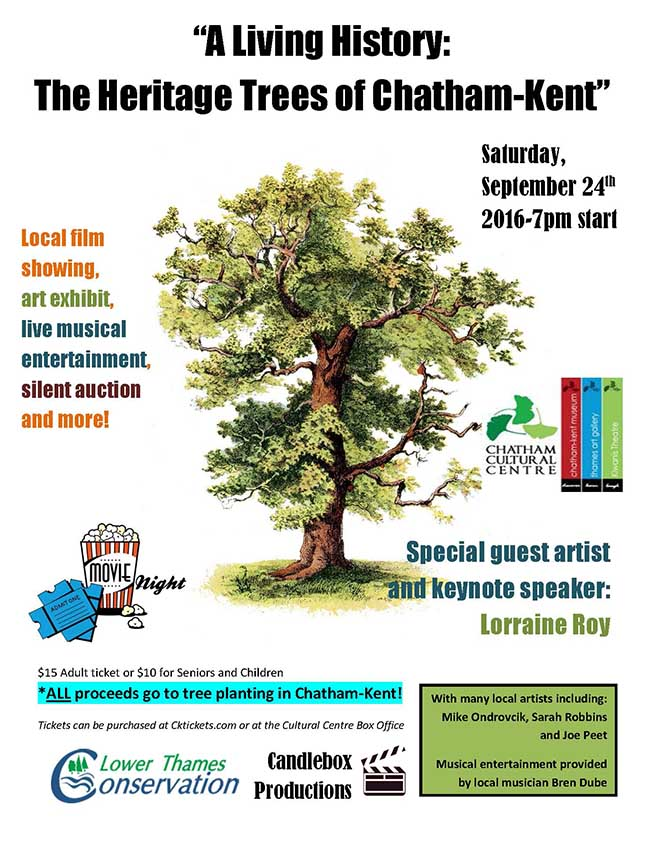 Don't Miss This Event … Proceeds to Tree Planting in Chatham-Kent