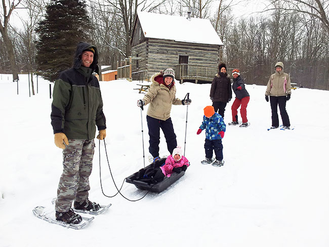 """Enjoy an afternoon in the great outdoors!"" It's Family Day Snowshoe at Longwoods – SEE UPDATE BELOW"