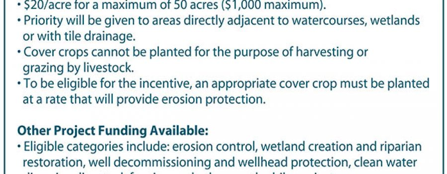 Cover Crop Funding Available through Elgin Clean Water Project