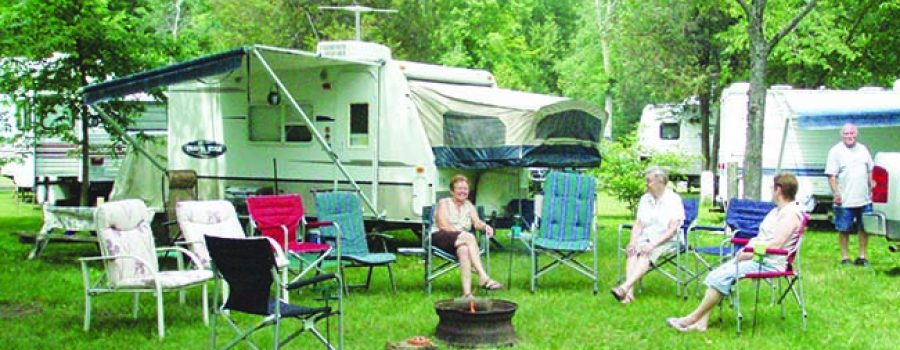 campers at C.M. Wilson Conservation Area