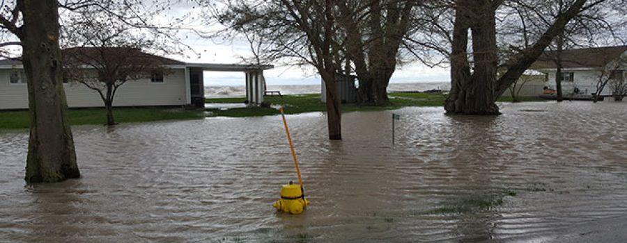 flooding along L. Erie