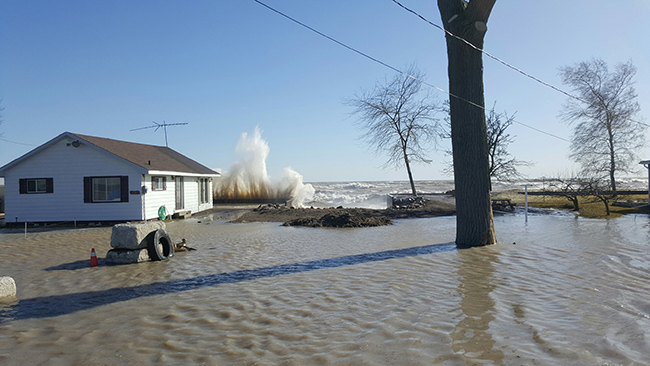 Watershed Conditions – Flood Outlook – Lake Erie Shoreline / Erie Shore Drive – December 7th, 2017 – 4:15 p.m.