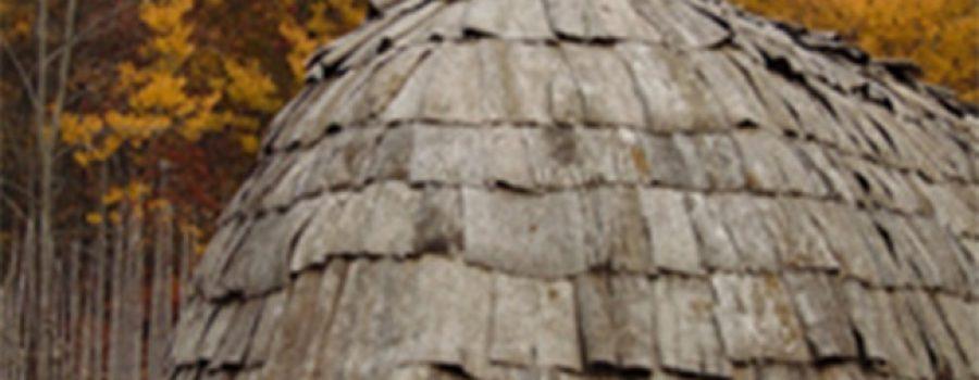 Ska-Nah-Doht Longhouse in fall