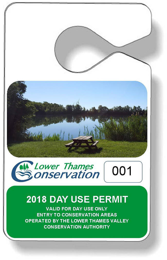 Now Available!  Lower Thames Valley Conservation Authority 2018 Day Use Permits on Sale!