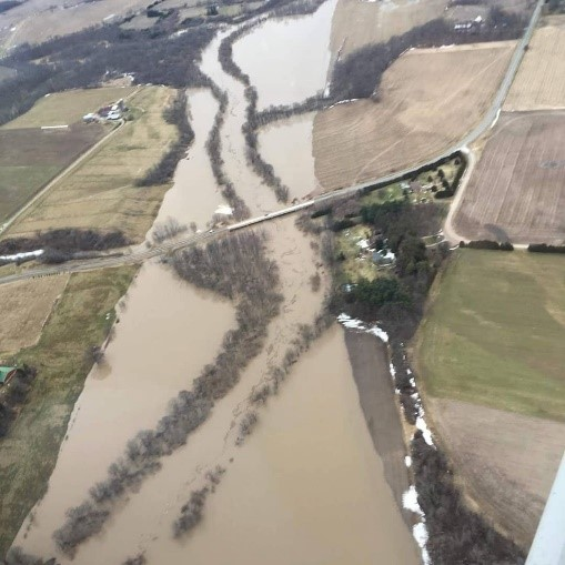Thames River flood