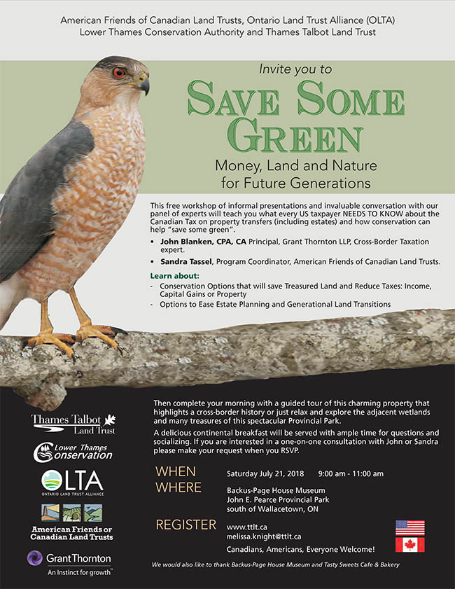 Free Workshop! Save Some Green – Money, Land and Nature for Future Generations