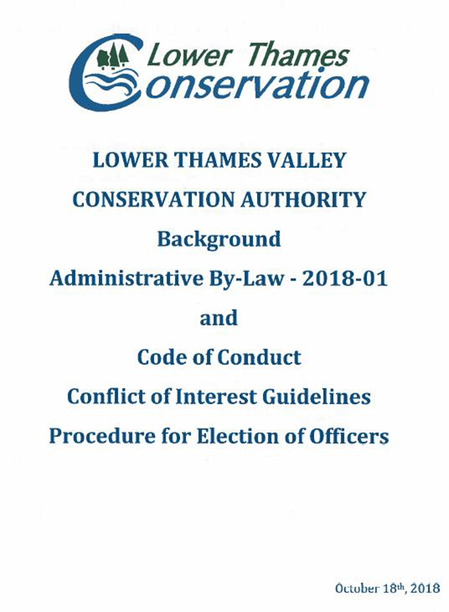 LTVCA Administrative By-Law Approved
