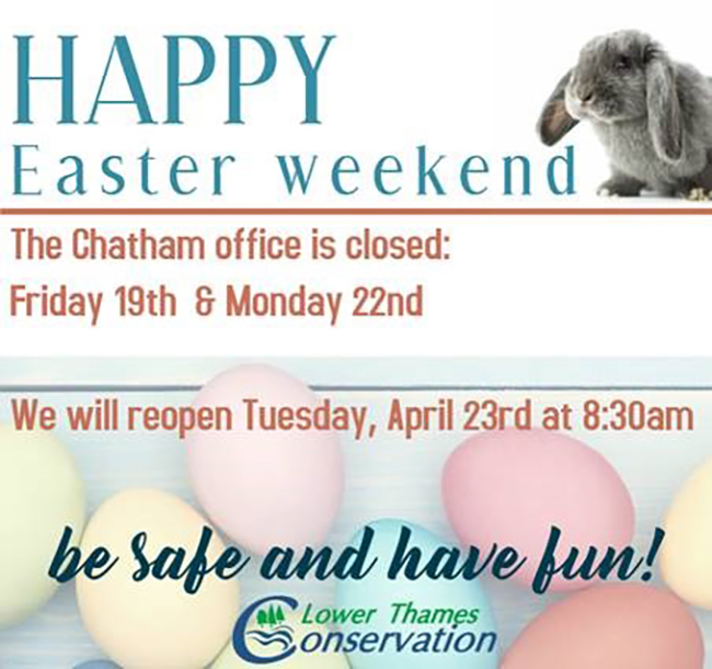 LTVCA Office Easter Hours