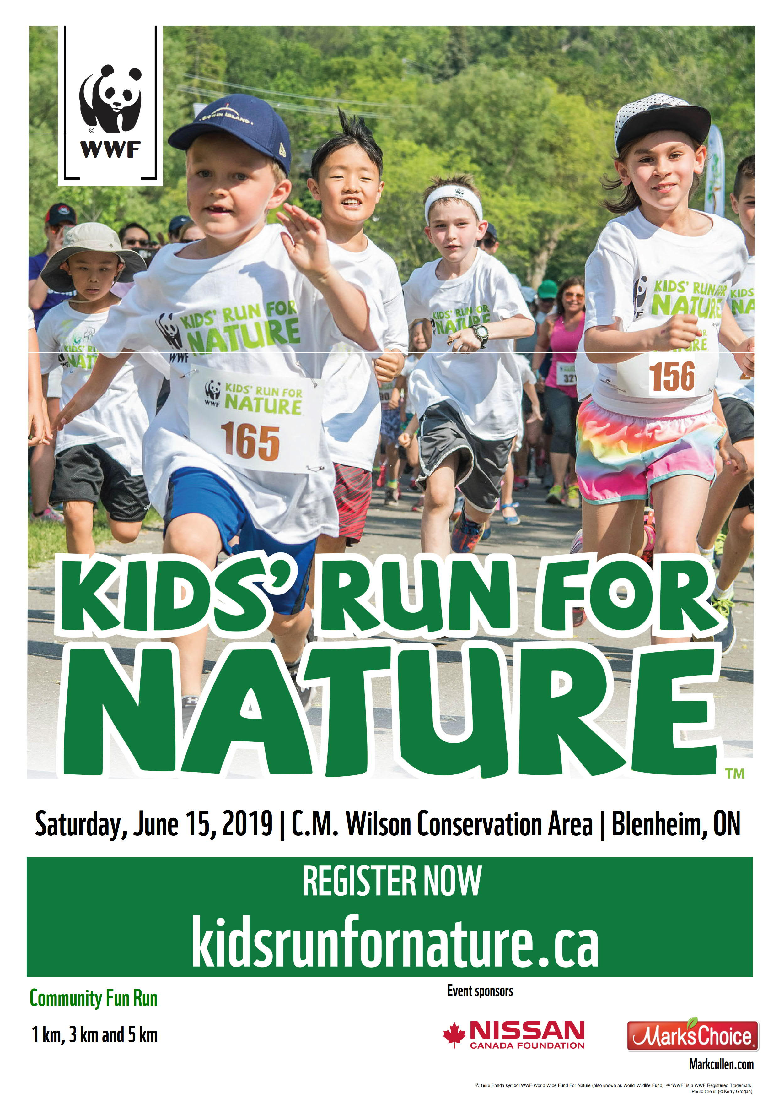 Kids' Run for Nature poster 2019