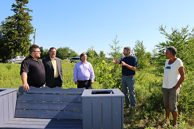 Officials visit one of the first projects of $1 million Ridge Landfill Community Trust initiative