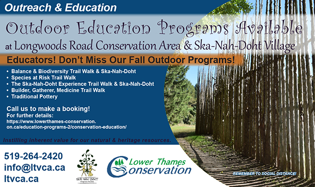 Longwoods Road Conservation Area & Ska-Nah-Doht Outdoor Education Programs