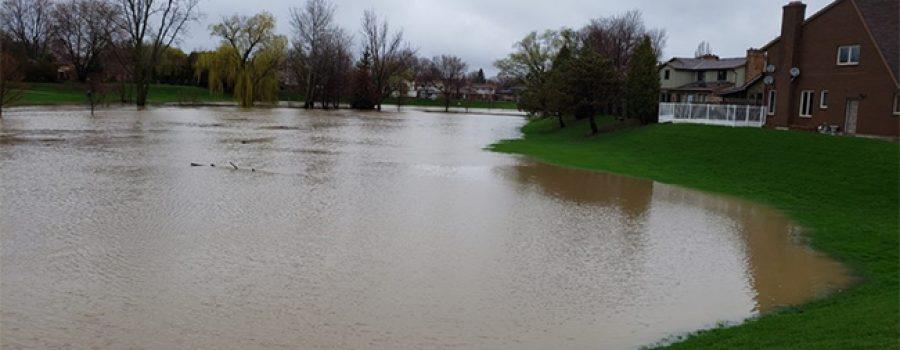 flooded thames river