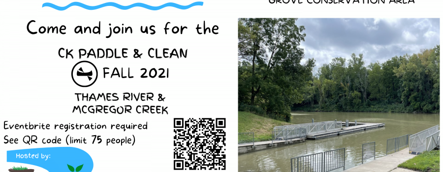 CK Paddle and Clean Fall 2021 poster with QR code